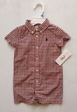 NEW WITH TAG RALPH LAUREN POLO BABY BOY SHORTALL (ONE PIECE) 3 MONTHS