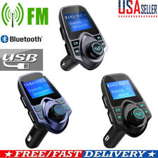 In-Car Kit Bluetooth Hands-free FM Transmitter Radio MP3 Player USB Charger TF