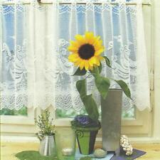 Cafe Net Curtains Voile Tier Curtain Window Lace Curtain Home Decoration 160x30