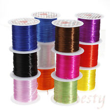 2 Roll 10m Strong Elastic Stretchy Beading 0.8mm Thread Cords For Jewelry Making