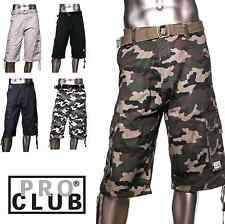 BIG AND TALL Casual Twill CARGO Shorts Tactical Combat PROCLUB PRO CLUB US SIZE