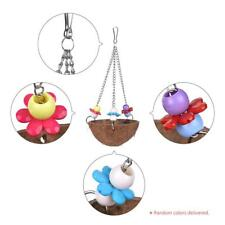 Bird Toy Swing Coco Wood Chew Accessories Toys Stand for Parrots HOT E8G5