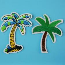 2 Tree Palm Beach Holiday Nature Iron on Patch Embroidered Applique Biker Badge.