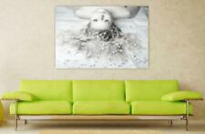 Canvas Poster Wall Art Print Decor Girl Woman Beauty One Face Sexy