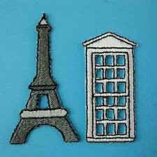 Paris Tower France Travel Souvenir Embroidered Iron on Sew Applique Patch Lots