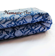 01-10 Yard Indian Voile Hand Block Cotton Print Art Craft Sewing Material Fabric