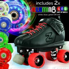 Zoom RED Speed Skate Roller Skates with 2 LED Super Bright Colour wheels Combo!
