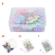 100X Patchwork Pins Flower Button Head Pins DIY Quilting Tool Sew Accessories: