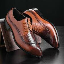 Men's Dress Formal Business Oxfords Leather shoes Casual Classic Bullock Shoes
