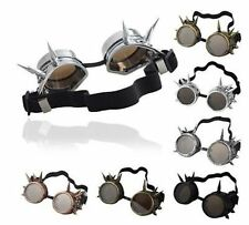 Vintage Victorian Steampunk Goggles Glasses Welding Cyber Punk Gothic Cosplay CM