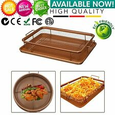 Gotham Steel Copper Crisper Tray - AIR FRY IN YOUR OVEN -NEW! Free Shipping UM