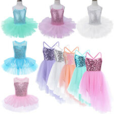 Kids Girl Tutu Ballet Dance Dress Ballerina Fairy Swan Dancewear Leotard Costume