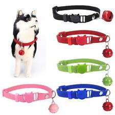 Adjustable Cat Kitten Pet Soft Micro Fiber Safety Clip Collar With Bell