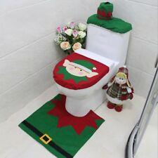 Christmas Decorations Elf Deer Santa Claus Toilet Seat Cover Ornament BS