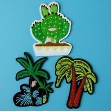 3 Tree Palm Beach Holiday Iron on Patch Embroidered Applique Motif Beach Lots. Y