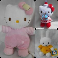 selection of hello kittens and miffy soft toys