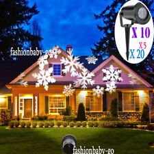 LOT Halloween Decora Xmas Projection Led Lights Snowflake Spotlight LASER 20X GO