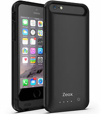 Zeox External Battery Backup Power Bank Charger Cover Case for iPhone 6 6s 4.7""