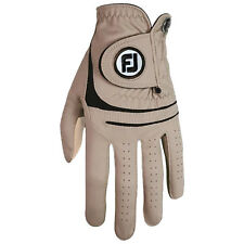 FootJoy Mens Weathersof Golf Glove Left Hand - New Tan Taupe All Weather Leather