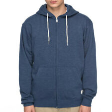 "DC Shoes ""Rebel"" Zip Up Hoodie (Washed Indigo) Men's Blue Skate Fleece Jacket"