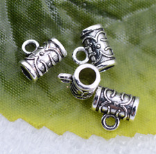 30/100/200pcs Tibetan Silver Connectors Spacer Bail Beads Charms 8x7mm #5392