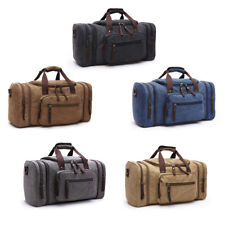 1 Pcs Large Weekend Bag Canvas Travel Bags Men Duffel Bag Carry on Luggage Bags