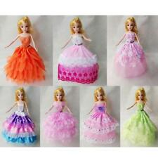 Handmade Princess Dress Clothes Gown for Barbie Dolls Dress up Accessories