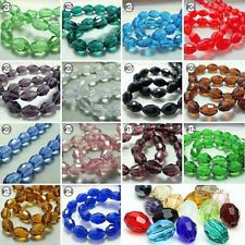 72pcs Mixed Colour Synthetic Crystal Gemstone Oval Shape Loose Beads 8x11mm