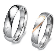 Cool Heart Jewelry Wedding Sexy Ring Finger Band Couple Titanium Steel Hot Gift