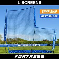 FORTRESS Baseball 7' x 7' L-Screen Backstop Screens | Baseball Safe Practice Net