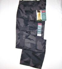Men Wrangler Camo Legacy Cargo Pants Loose Fit Straight Leg Anthracite ALL SIZES