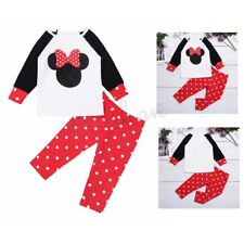 Infant Baby Girls Clothes Outfit Long Sleeves T-shirt Polka Dots Tops Pants Set