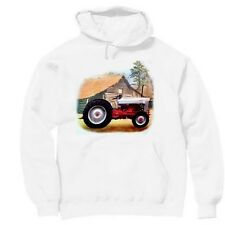 Pullover Hooded hoodie country sweatshirt Antique tractor farm barn farmer
