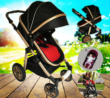 4 in 1 Foldable Newborn Carriage Travel System Pram Baby Stroller Pushchair