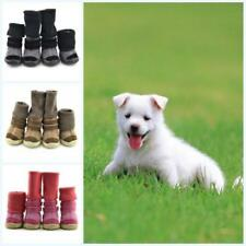4pcs Small Pet Dog Winter Snow Boots Puppy Anti-slip Warm Shoes Sneakers Booties