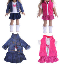 Doll Fancy Jeans Shirt Dress Suit for 18' American Girl Doll Clothes Outfit·