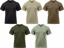 Solid Moisture Wicking Tactical Military Silky Polyester T-Shirt