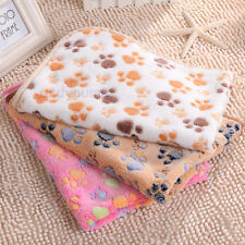 Top Pet Mat Small Large Paw Print Cat Dog Puppy Fleece Soft Blanket Bed Cushion