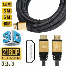 High Speed HDMI Cable V2.0 2160P Ethernet 4K 60Hz- HDTV LCD LED PS4 BLURAY 3D HD