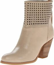 Nine West Womens HIPPY CHIC Leather Round Toe Ankle Fashion Boots