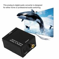 Analog Audio to Digital Optical Coax Toslink Voice Adapter Sound Converter LC