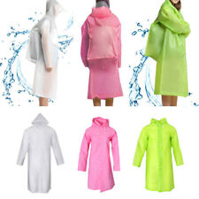 Adult Hooded Rain Poncho Raincoat with Sleeves Camping Hiking Travel M/L/XL