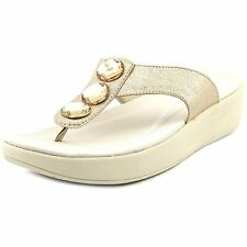 Easy Spirit Womens Bejewel Leather Open Toe Casual T-Strap Sandals