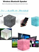 Mini Wireless Magic Cube Speaker Portable Stereo Music Player With LED Light LN