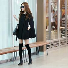 Winter Women Warm Batwing Cloak Cape Coat Loose Poncho Jacket Outerwear Tops LN