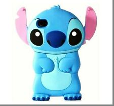 Blue 3D Cartoon Character Stitch With Ear Flip Hard Case Cover for iPhone 4/4s