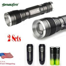 20000LM  XM-L T6 LED 18650 Zoomable Flashlight ^djustable Focus Lamp Hot ^