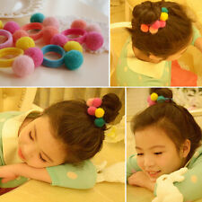 Elastic Girl Pompom Ball Hairband Rope Ring Hair Band Ponytail Holder Kid#&