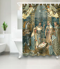 Navitity of Jesus 180CM Shower Curtain Fabric Polyester Sheer Set Holy Christmas
