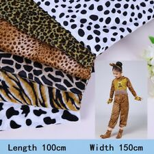 Velvet Fabric Animal Leopard Print Costume Cloth Material Sewing Crafts By Meter
